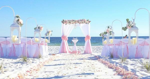 Barefoot Bamboo Paradise Deluxe Beach Wedding Package