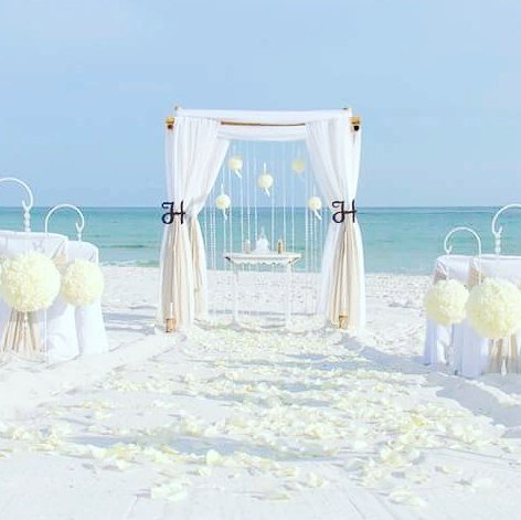 All Inclusive Florida barefoot beach wedding package